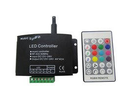 Music Led Controller 12-24V + Remote Control For Led RGBW Strip Light 20pcs lot