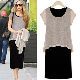 2015 Women's European leg sexy OL cotton dress summer new large size dress models in Europe and America 6540