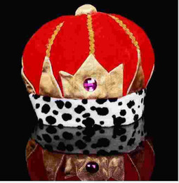 New Fashion 5 piece Halloween Red Gorras Snapback Crystal Crown Hat for the Women Carnival Hats Men King Hats Winter Cap Christmas Gift