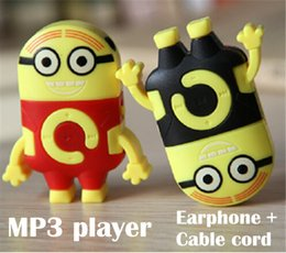 Plastic Mini MP3 Player Stationery Retractable sport music mp3 player support Micro SD   TF Card MP3 + earphone + USB+crystal box 5pcs lot