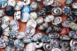 JACK88 Hot Mix Many styles 100pcs 18mm Glass Snaps Round Snap Button Ginger Snap Charm Bracelet Snap Button Jewelry N004