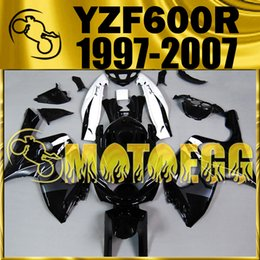 Wholesale Motoegg Aftermarket Fairings For Yamaha YZF600R YZF R YZF R Black White Y60M18 Free Gifts
