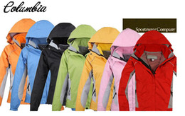 Wholesale Women autumn winter female classic sport down ski jacket candy color snow hoodie clothes Wind and Water proof coat