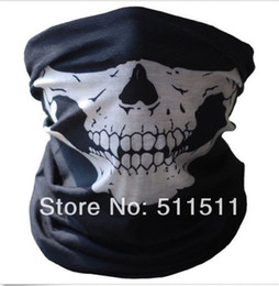 Wholesale-High quality Bicycle Ski Skull Half Face Mask Ghost Scarf Multi Use Neck Warmer Windproof