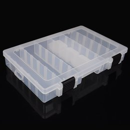Wholesale 21 adjustable partitions transparent bait boxes inx7 in large size lure boxes dividers flexible bait box