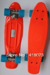 Wholesale quot Crazy Complete Skateboard Board Skate quot Nickel quot Cruiser Skateboard orange and blue