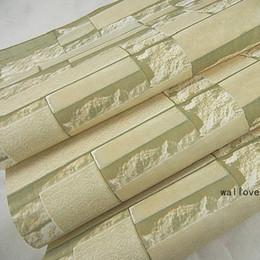 Fond d'écran d'ardoise à vendre-3D beige / blanc Papier peint en pierre de bloc d'ardoise Papier peint en brique de PVC en vinyle pour la chambre à coucher amélioration de la maison papel de parede pour quarto