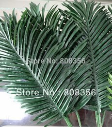 Wholesale 10pcs Artificial Leaves Simulation Plants Fake Palm Tree Leaf