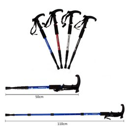 Wholesale Ultra light Adjustable Cane Telescopic Aluminum Alloy Hiking Walking Stick Nordic Walking Poles Colors Hiking Stick