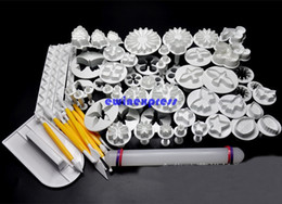 68pcs set 3D DIY Sugarcraft Cake Decorating Tools Fondant Cake Plunger Cutter Tools Cookie Biscuit Cake Mold Mould set
