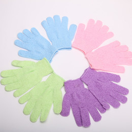 Wholesale Exfoliating Bath Glove Five fingers Bath Gloves attractive in price and quality Christmas Toy