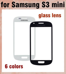 Touch Screen Glass Lens Screen Protector For Samsung Galaxy S3 Mini i8190 Replacement Front Screen Display Glass Cover 6 Colors SNP012