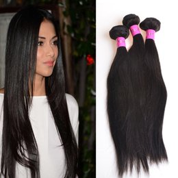 Top Quality Brazilian Human Hair Weave Virgin Remy Hair Straight 3 Bundles Lot Mongolian Cambodian Virgin Straight Hair Bundles Color 1b#