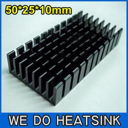 Wholesale-FREE Shipping 10pcs50x25x10mm Aluminium Radiator Heat Sink Heatsinks Cooler