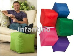 Wholesale Square design bean bag footstool kids bean bag seat Colorful fruity bean bag footstool for indoor and outdoor use hotsell CUBE bean sofaseat