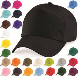 Wholesale Baseball Cap Adjustable Classic New Cotton Summer Sun Panel Mens Ladies Hat