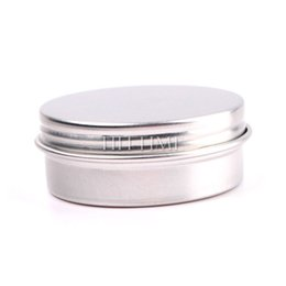 Wholesale 15ml Empty Nail Art Cream Pot Lip Balm Cosmetic Tin Containers Bottles Screw Thread