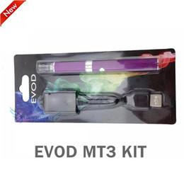 EVOD MT3 Blister Kit E Cigarette Starter Kit MT3 evod Atomizer EVOD Batteries 650mAh 900mAh 1100mAh with usb charger blister pack