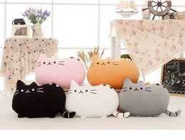 Cute Cat Plush Toy Stuffed Animals Toys Push Pusheen Cat Plush Pillow Cushion Gift For Girl 5 Colors