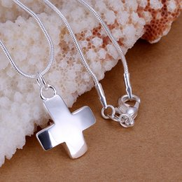 """fashion necklace 925 silver short crosses necklace fit snake chain necklaces 18"""""""
