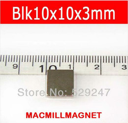 New 2016 style 20pcs Blk10x10x3mm magnetic gift Rare-earth Neodymium Super Strong Permanent Magnet Earth, Free Shipping