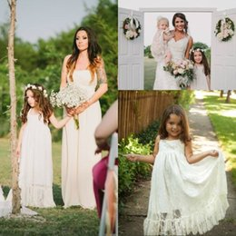 Fashion Lovely A Line Halter Ankle Length Lace Ivory Flower Girls Dress For Wedding New Arrival Party Christmas Girl's Dresses