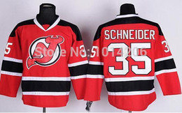 Wholesale 2016 New Cory Schneider Jersey NJ New Jersey Devils Jersey red home Ice Hockey shirts Top Quality Drop Shipping Hot Sale