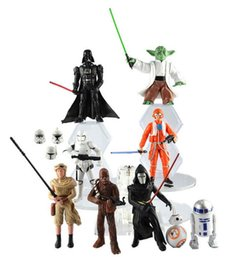 Wholesale Star Wars design The Force Awakens Figurine toy Black Knight Darth Vader Stormtrooper PVC Action Figures CM Boy Toys