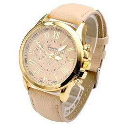 Women Fashion Roman Faux Leather Analog Quartz Wrist Watch White Business Original Woman Watches Clock Female Casual Cool Watch