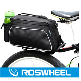 Wholesale Roswheel Fashion Practical Bicycle Trunk Pannier Bike Rear Carrier Bag Pack Impact Resistance and Tear resistant Black