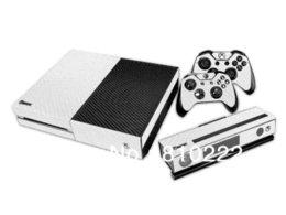 Piel rotective de fibra de carbono de la etiqueta / etiquetas engomadas del abrigo para Xbox una consola + 2 mandos + Kinect-Piel Negro / rojo / oro / blanco / amarillo Otros acesorios ... desde controlador de xbox kinect fabricantes