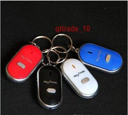 Wholesale 500 BBA4845 Easy Sound Control Locator Lost Key Finder with Flashing LED Light Key Chain Keychain Keys Finding Whistle Sound Control gifts