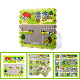 Wholesale New City Roads Baby Quiz Games Foam Crawling Cushion Jigsaw Carpet Game C Friendly Material Game A