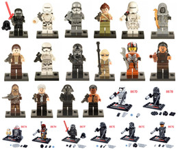 Wholesale 24pcs Star Wars Minifigures The Force Awakens Kylo Ren Darth Vader C3PO Yoda Solider Building Blocks Toys Compatible Legos