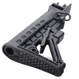 Wholesale 6 Position Solid Locking Collapsible Black Butt Stock With QD Sling Swivel quot For AK Series