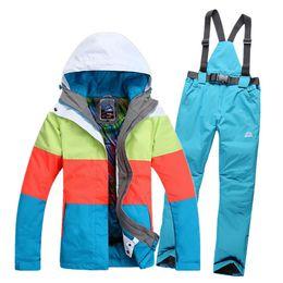 Wholesale-New 2016 winter female skiing jackets Gsou woman ski coat snowboard ski suit women snow wear jacket