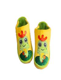 2016 pantoufles chaussures mignonnes Grossiste-pantoufles pour enfants Cute Little Frog Cartoon Cheval Chaussures, Accueil en peluche Cotton Slippers Hiver Accueil Fabricants TCCS6005 peu coûteux pantoufles chaussures mignonnes