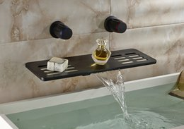 Multi-function Oil Rubbed Bronze Basin Faucet Dual Handles With Soap Dish Holder