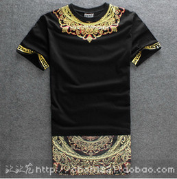 Wholesale 2014 New Fashion Mens T shirt Side Zipper Streetwear Hip hop Print Lengthen Tshirts Long Design dress Tee