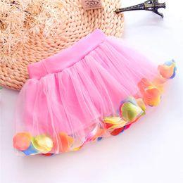 Pettiskirt Girls Floral Tutu Lace Dress Baby Cute Baby Girl Kid Chiffon Fluffy Tutu Dance Party Christmas Pettiskirt 0-10Y