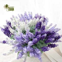 12pcs Branches Provence Lavender Artificial Flower For Wedding Arrangement High Quality Wedding Home Decoration Flowers Crafts Plant