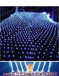 2017 rgb led net Bleu de haute puissance 200 LED 2m * 3m Lumière Net Net Mesh Fairy Lumières Twinkle Lumière Noël Mariage LIVRAISON GRATUITE MYY1662 bon marché rgb led net