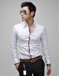 men shirts business T shirts contracted joker pure color man render round collar T-shirt unlined long sleeve