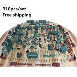 Wholesale Super affordable military base set Plastics toy soldier sand table model army soldier boy Christmas gifts