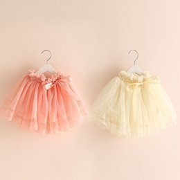 Wholesale-New Style Baby Summer Mesh Skirts for Girls Short Skirt