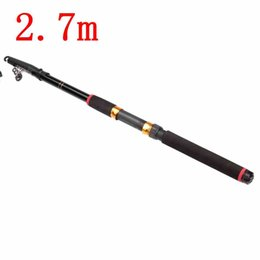 New Arrival Lowest Price 2.7m Outdoor Portable Glass Fiber Telescopic Fishing Rod Travel Holiday Spinning Fishing Pole
