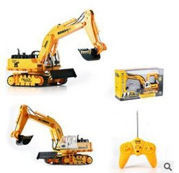 Wholesale Yellow Color Toy Truck Models rc trailer truck Toys excavator Construction Trucks For Kids Children Play Gift Toys machine