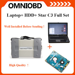Wholesale 2015 Newest software installed on Dell D630 Laptop MB Star C3 for Ben z Auto Diagnosis C3 multiplexer DHL Free