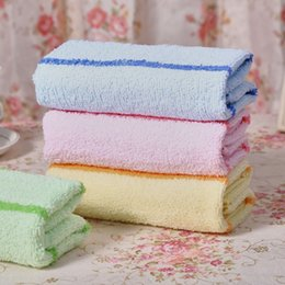Wholesale Selling insurance return gift custom striped towel towel thickened advertising towel towel factory Gaoyang