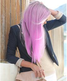 Wholesale A Chip Five Card Gradient Hair Straight Hair Colors Wig Harajuku Hair Piece Long Straight Hair Free DHL